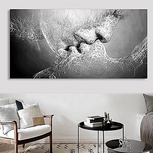 Unframed Black Love Canvas Painting Print Picture Living Room Wall Art Decor