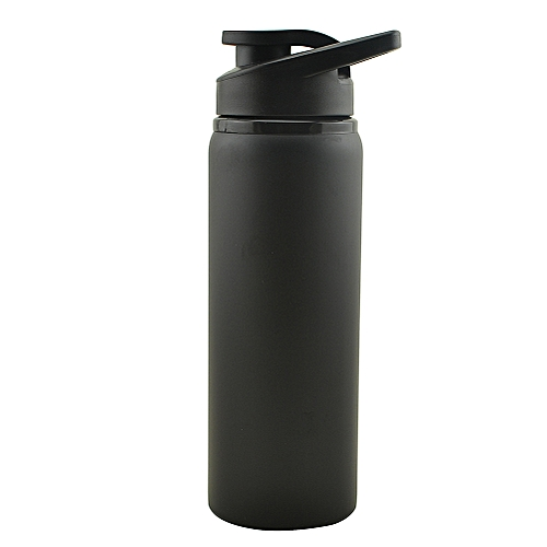 Generic 700ml Portable Stainless Steel Heat Preservation Water Bottle Outdoors Sports Jug For Mountain Camping Riding Color:black Volume:700ML