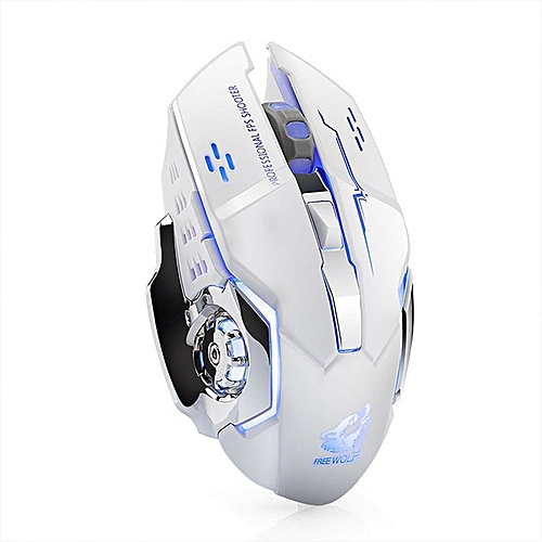 X8 Super Quiet Wireless Gaming Mouse 2400DPI Rechargeable Gamer Computer Mouse