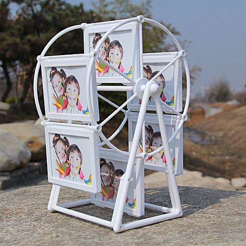 3 Inch Ferris Wheel Mini Frame Creative Baby Photos Wedding Picture Photo Frame Table Cute White Frame Can Hold 12 Pieces Photos