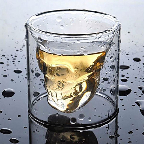 SkullHead Whiskey Tequila Shot Glass Fun Creative Party Wine Beer Drinking Glass