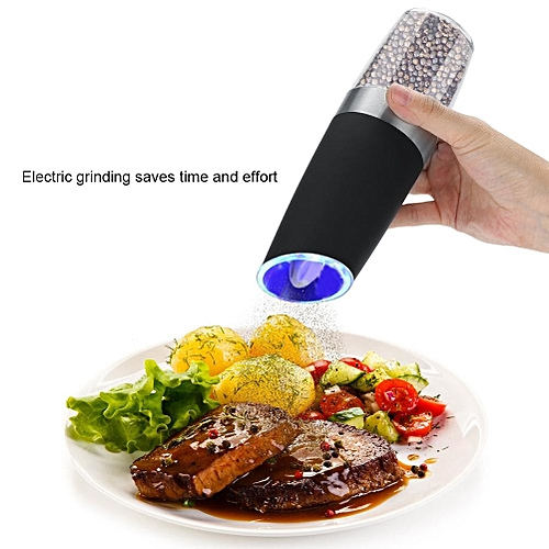 Electric Solid Seasoning Tool Pepper Grinder Salt Dining Table Pre Filled Crusher Abrader