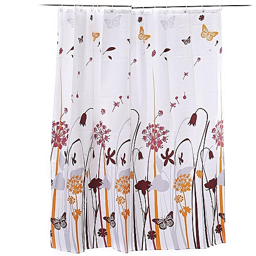 Feiqiong Brand 180*200 Waterproof Shower Curtain 100% Polyester Bathroom Curtains Dandelion Pattern With 12 Hooks Free