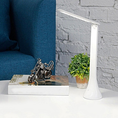 USB Rechargeable Foldable LED Desk Table Lamp Touch Sensor Light Dimmable Eye-Care Reading Portable Fashion For Office Study