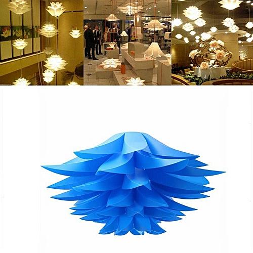 Modern Lotus Pendant Chandelier Pendant Ceiling Lamp Hanging Light Lampshade DIY (Blue)