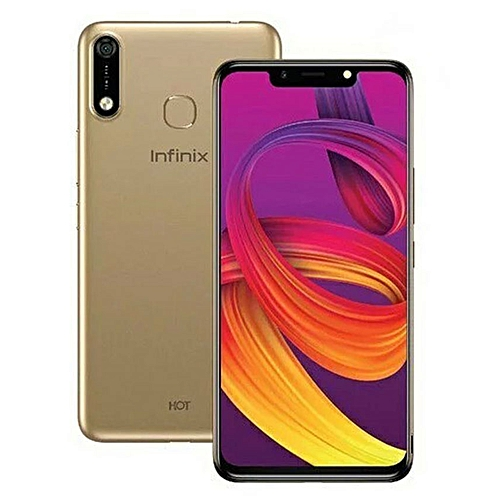 HOT 7 (X624) 6.2-Inch (16GB ROM, 1GB RAM) 13MP + 8MP 4000mAh Dual SIM, Face Unlock 3G Smartphone - Champagne Gold