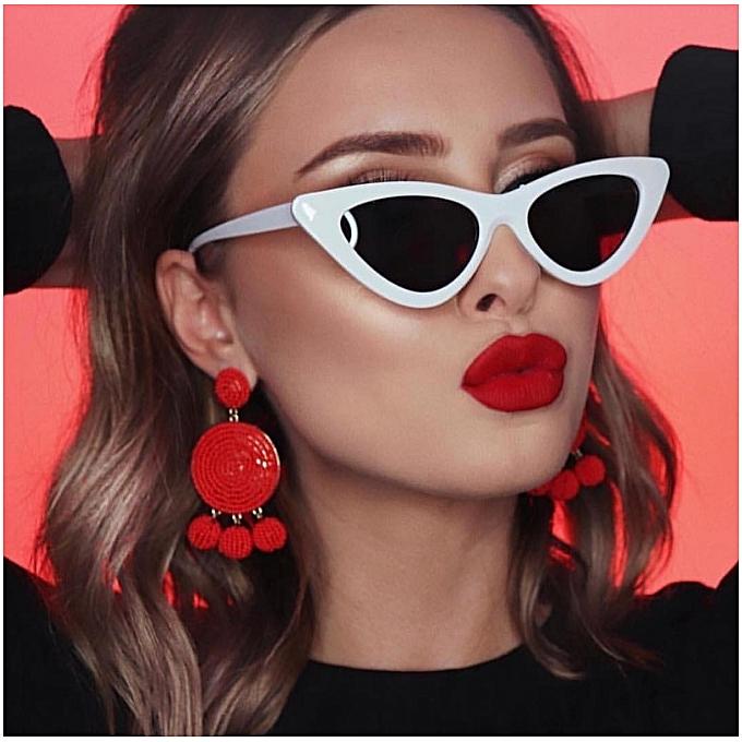 71d5d71f00 1 Pcs Retro Fashion Triangle Cat Eye Sunglasses Trend Women Girl Sunglass