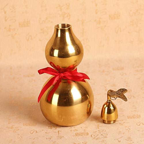 FENG SHUI BRASS METAL GOLDEN WU LOU LUO LU GUORD -3cm X 10.2cm