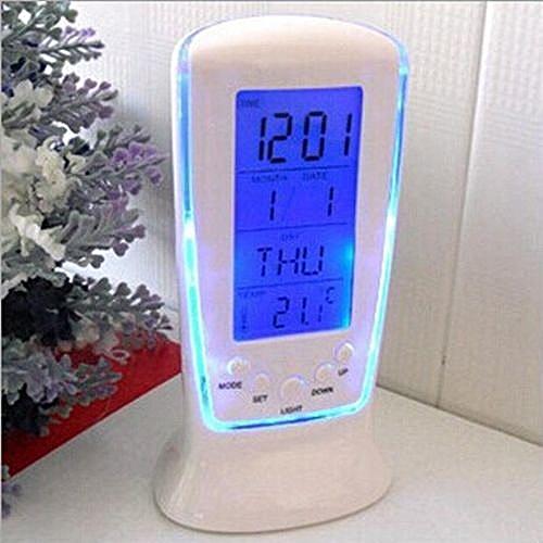 LED Display Table Alarm Clock Calendar