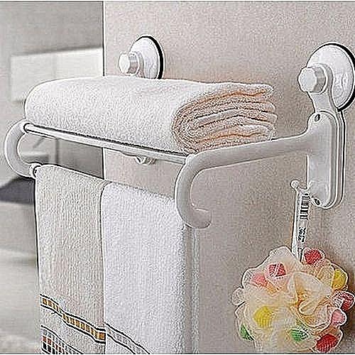 Bathroom Towel Rack And Sponge Hanger