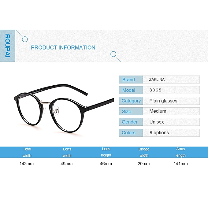 Generic Black Eyeglasses Frames With Clear Lens Retro Optical Frame ...