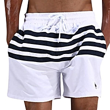9343ff0a7b5 ESCATCH Mens Loose Board Shorts Outdoor Stitching Striped Summer Breathable Beach  Shorts White