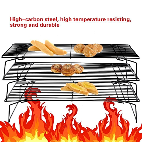 3-Tier Folding Cooling Rack Baking Cake Biscuit Pie Cooler Tray Stand Kitchen Tool