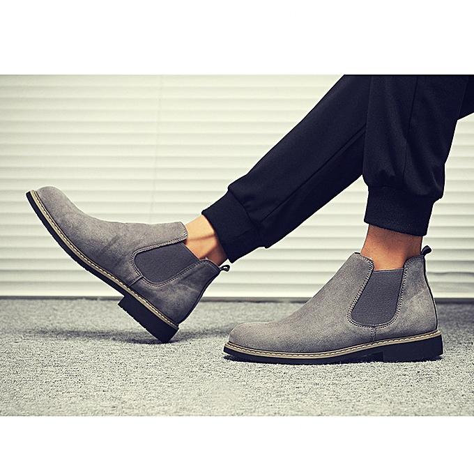 fbfd0931337 Men Chelsea Boots Ankle Boots Men's-Gray