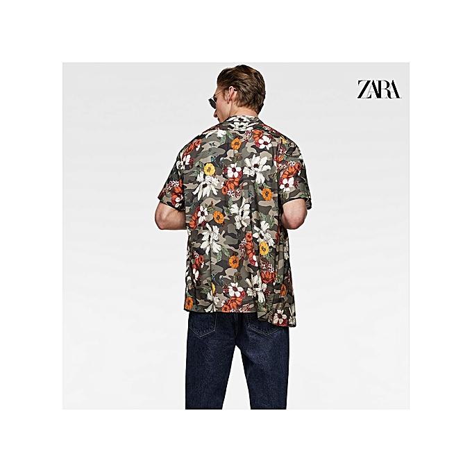 f2677abb25be Zara Floral Print Fit Shirt - Green | Jumia NG