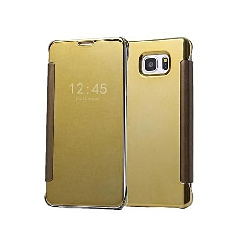 uk availability fe367 dd7ba Clear View Mirror Case For Galaxy Note 5 Gold