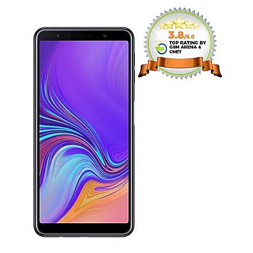 Galaxy A7 2018 6 0-Inch (4GB RAM, 128GB ROM) Android 8 0 Nougat, (24MP +  8MP + 5MP) + 24MP 4G LTE Smartphone - Black