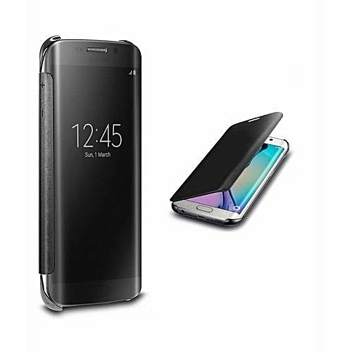 Flip Cover Case For Samsung Galaxy S8 Plus Black NO Sensor