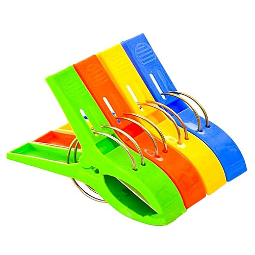 4 Pcs Eleganya High Quality Thicken Windproof Multi-colored Plastic Clothespin