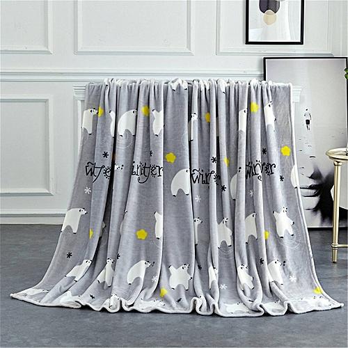 120cmx200cm Velvet Blanket Soft Levin Blanket Couverture Polaire Carpet Grey
