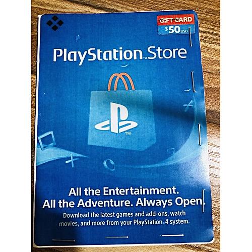 PSN $50 Gift Card For PS3/PS4/PSvita