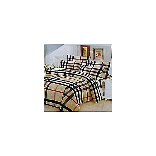 Bedsheet With Four Pillow Case - Burberry Design