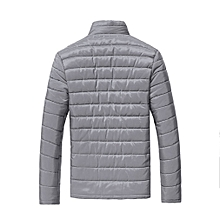 a95339c1d4b Fashion Stand Collar Winter Men Jacket Cotton Padded Down Coats Thick  Outwear