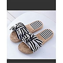 b281a3731 Female Flat Slippers With A Fashionable Bowknot