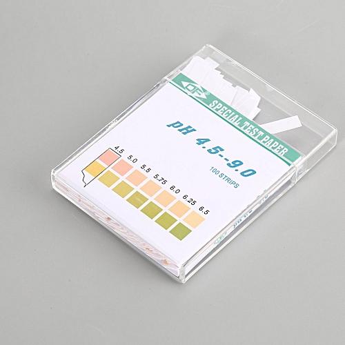 100 Strips 4.5-9.0 PH Test Paper Alkaline Acid Indicator Meter For Water Urine