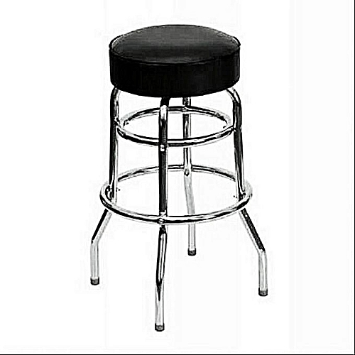 Four-Legged Leather Bar Stool With Fixed Stools Height
