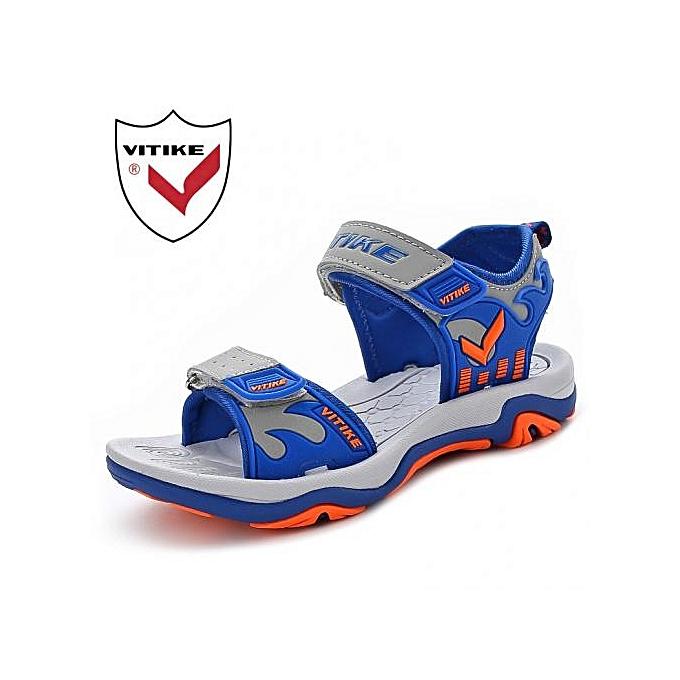 a7726e0a81cd 2018 Children Summer Shoes Fashion Boys Sandals Cut Out Non-slip Boys Beach Shoes  For