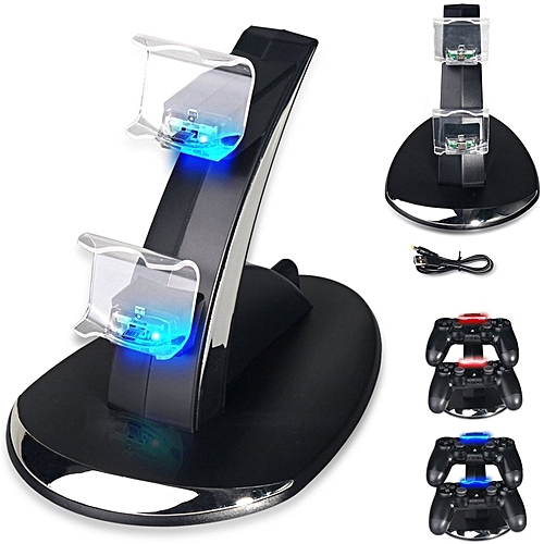 PS4 / PS4 Slim / PS4 Pro Controller Charger, PS4 Charging Station Stand For PlayStation 4 Controller GDMALL