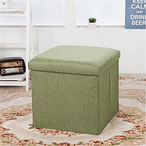 Cube Ottoman Pouffe Storage Box Folding Lounge Sofa Ottoman Seat Footstools New#Green