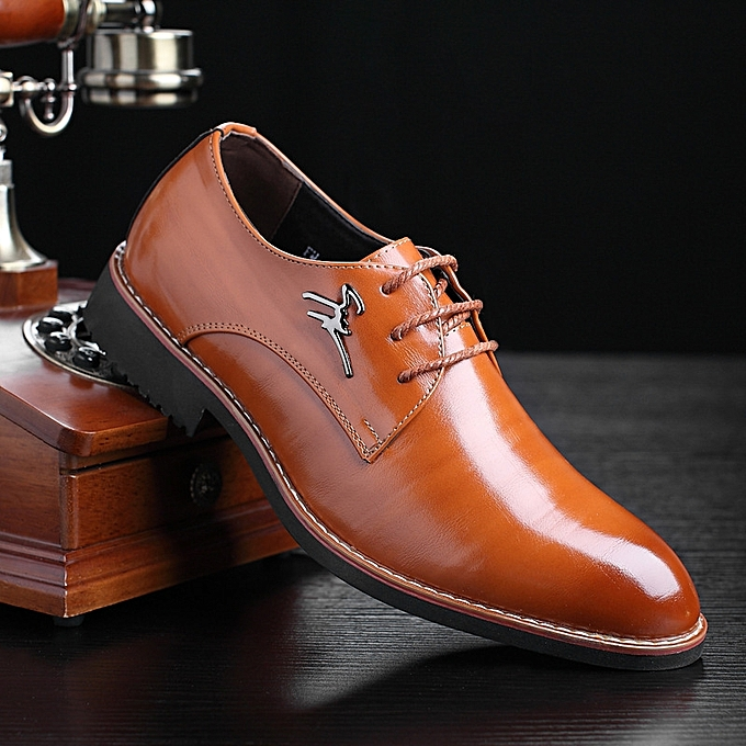 65a0f2220820 Men Business Business Cool Dress Shoes Men's Gentle Wedding Office Leather  Shoes Luxury Brand Formal Wearing