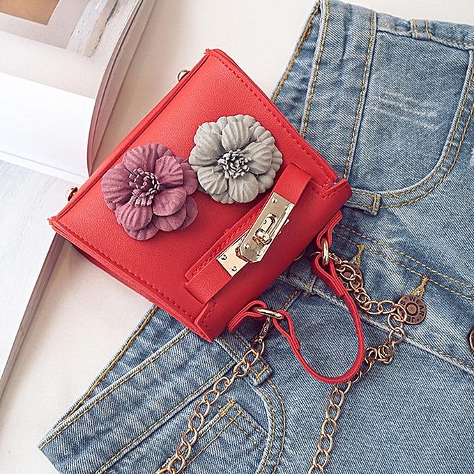 ... Kids New Korean Style Flower Mini Kelly Bag Handbag Chain Pack  Crossbody Bag For Girl ... 1b2b4c492b