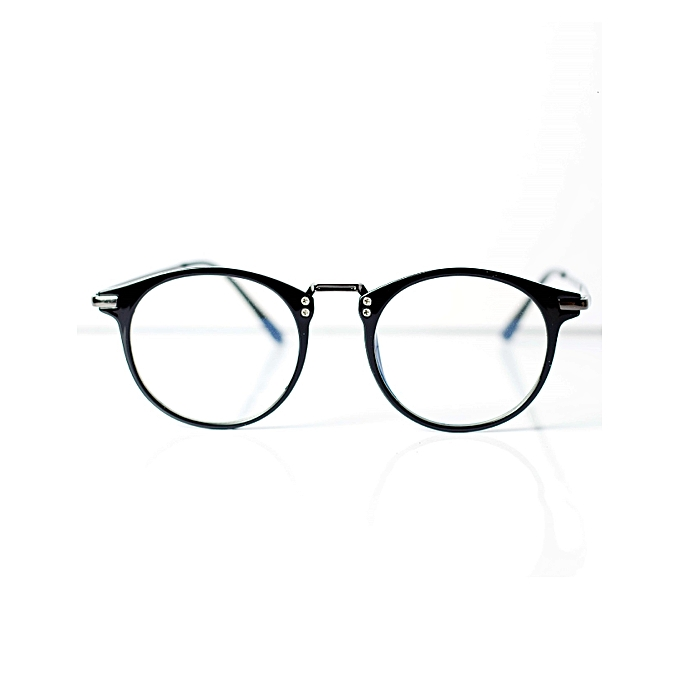 84e2493aa67 Retro Geek Vintage Nerd Frame Fashion Round Clear Lens Glasses With Case -  Black
