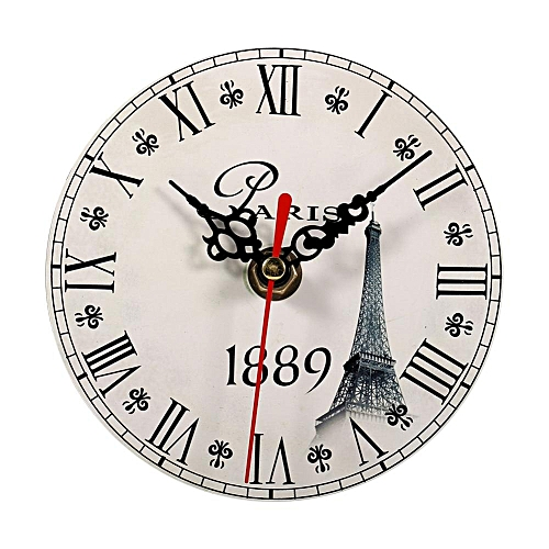 Creative Wall Clock Vintage Style Wooden Round Clocks Home Decoration (#6)