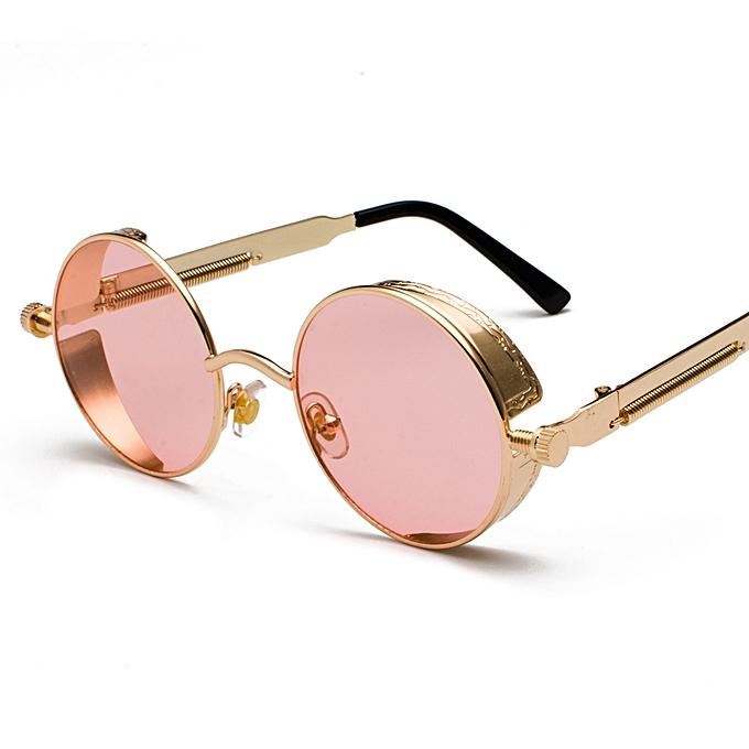 cad985d6e Metal Round Steampunk Sunglasses Men Women Fashion Summer 2018 Round Sun  Glasses For Women Unisex-