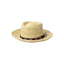f115b35c938 San Diego Hat Company Raffia Gambler W  Faux Leather Band - LG XL -