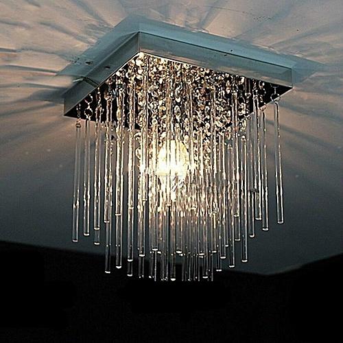 Fashion Square Crystal Led Chandeliers LED Lamps Restaurant Corridor High Power LED Chandelier E14 Led Lustre Light Chandeliers