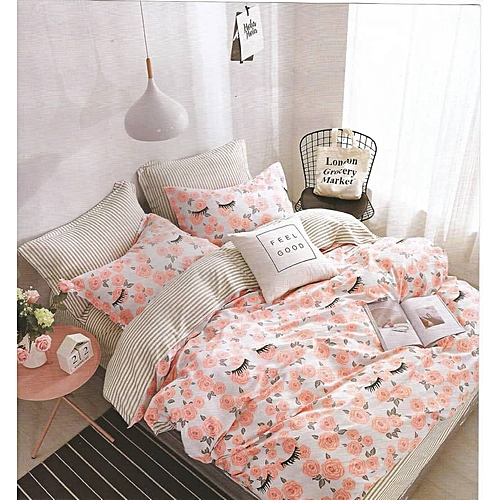 Duvet/Comforter Bedding Set With 4 Pillow Cases