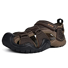 9173c57d99b99f Kaluochi Big Size Shoes Men  039 s Shoes Sandals Summer Leather Casual  Swiftwater 46