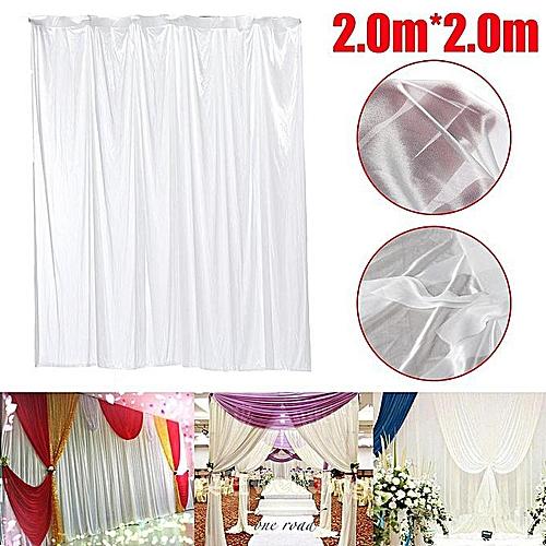 White Wedding Party Backdrop Curtain Drape Stage Background Decor Studio