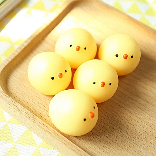 Honana Japan Mochi Yellow Chicken Squeeze Stretchy Decompress Phone Strap Accessories Squishy Kids