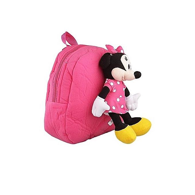 ... Children s Cartoon Character Minnie Mouse Teddy School Bag Backpack For  Kids ... 7fb138b9d06b6