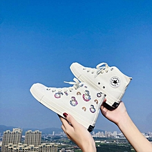 3-18 Delivery-UV Color Changing Canvas Shoes Women's Light Feeling Trojan Horse 2020 Tide High Top Board for sale  Nigeria