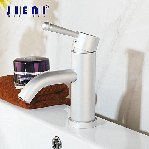 Luxury Tall Space Aluminum Bathroom Faucets Stream Spout Bathroom Faucet Matte Deck Mounted Water Basin Sink Faucet Mixer Tap HLI