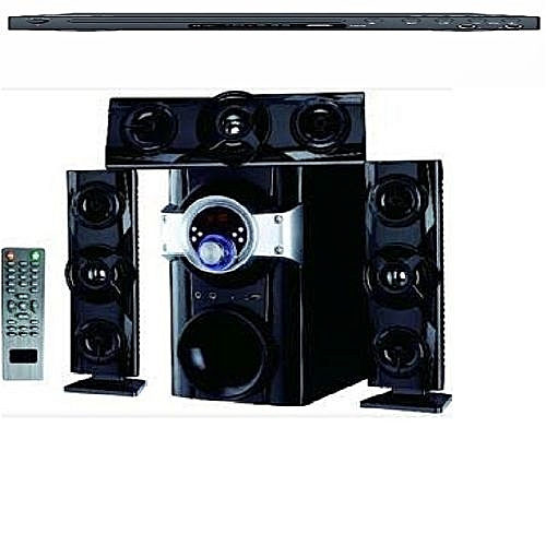 Home Theatre System With Bluetooth, US Band SD Port, FM Radio + DVD