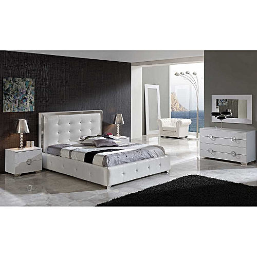 The Credal Full Bed Set(bedframes 6 By 7/ Bedsides/mirror Dresser/ Single Chair/ Standing Mirror)-