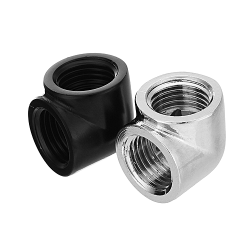 G1/4 Internal Thread Female To Female 90 Degree Fittings Joints PC Water Cooling Connector